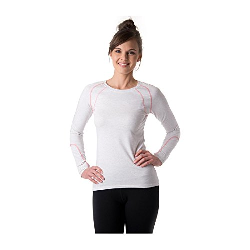 tasc Performance Damen Aspire Fitness Yoga Long Sleeve Tee Shirt Performance, Damen, Ash Heather, Small
