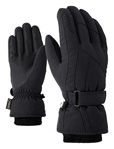 Ziener Damen KARMA GTX Gore plus warm lady glove Ski-handschuhe / Wintersport | wasserdicht, atmungsaktiv, sehr warm, schwarz (black), 6.5