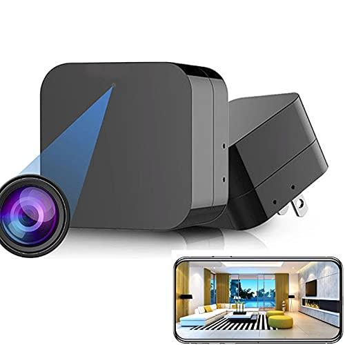 GEQWE Cargador De Cámara Espía - Cámara Oculta - Mini Cámara Espía 1080P - Cámara con Cargador USB - Cámara Espía Oculta - Cámara De Niñera Oculta - Cámara Oculta - Cámara De Vigilancia Full HD