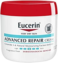 Eucerin Advanced Repair Cream - Fragrance Free, Full Body Lotion for Very Dry Skin - Use After Washing with Hand Soap - 16 Oz Jar