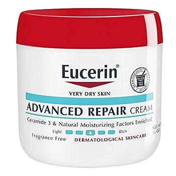 Eucerin Advanced Repair Cream Body Moisturizer for Very Dry Skin Body Cream with Ceramide 3 &Natural Moisturizing Factors Fragrance Free 16 Ounce Jar