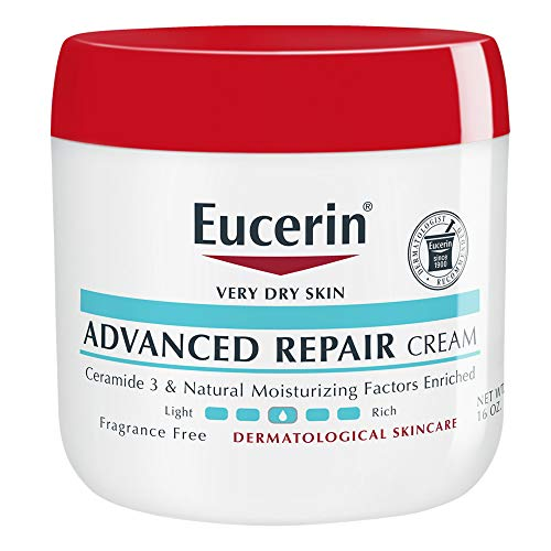 Eucerin Advanced Repair Cream - Fragrance Free, Full Body Lotion for Very Dry Skin - Use After Washing With Hand Soap - 16 oz. Jar