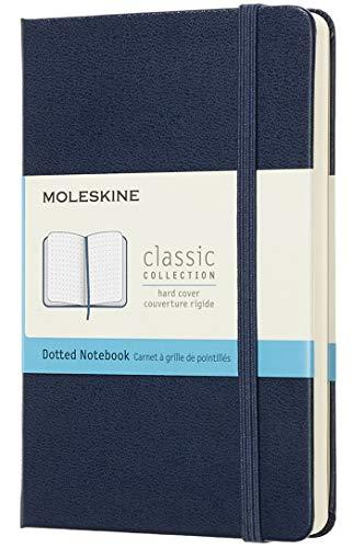 Moleskine Notebook Classic Pagina Puntinata, Taccuino Copertina Rigida e Chiusura ad Elastico, Colore Blu Zaffiro, Dimensione Pocket 9 x 14 cm, 192 Pagine