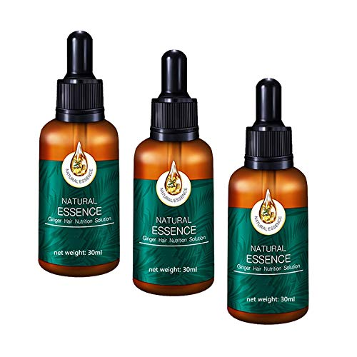 1pc 7X Rapid Growth Hair Treatment, preventing hair loss, hair loss treatment for men tablets, Hair Loss Fast Hair Growth Serum Ginger Essential Oil 30ml (3PC)