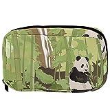Piccola borsa cosmetica per la borsa, borsa per il trucco, beauty bag da viaggio beauty bag da toilette, borsa per matite e portamonete, con cerniera, panda in bambù, cascata foresta albero acquerello