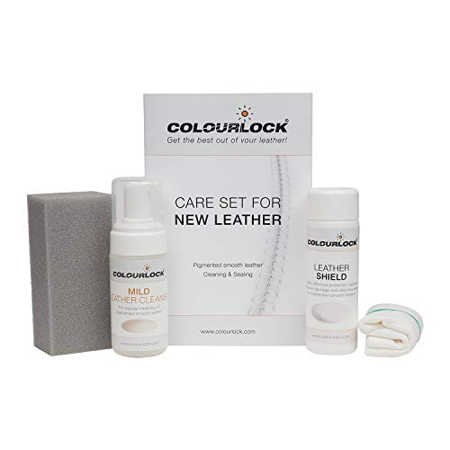 COLOURLOCK Leather Shield Clean & Care Kit | Protect Against Ink & dye Transfer and Friction Damage | Leather car interiors, Furniture, Apparel, Shoes, Bags and Accessories | Mild Cleaner