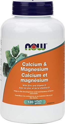 NOW Cal-Mag + D Softgels 120 Softgels, 50 g