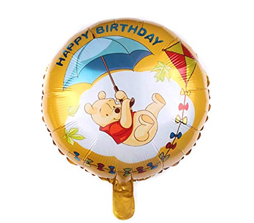 SauParty Helium Folienballon Winnie Puuh Kinder Geburtstag Geschenk Bär Pooh auf Wolken