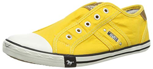 Mustang Damen 1099-401 Canvas Sneakers, Gelb (Gelb 6), 39 EU