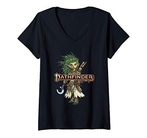 Womens Pathfinder: Lini the Druid V-Neck T-Shirt