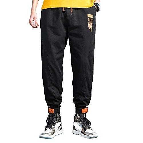 Pantalons décontractés pour Hommes Printemps Harlan Lâche Casual Velcro Faisceau Pieds Couleur Unie Grande Taille Salopette de Mode