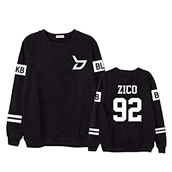 mainlead Block B New Album Sweater Sweatshirt Zico Taeil B-Bomb Pullover Jacket Black Zico XL