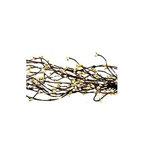 CWI Gifts Wispy Pip Berry Garland, 4-Feet, Ivory/Vanilla