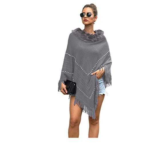 BaZhaHei Abrigo Abrigo de Punto de Mujer de Cachemira de Punto Chal...