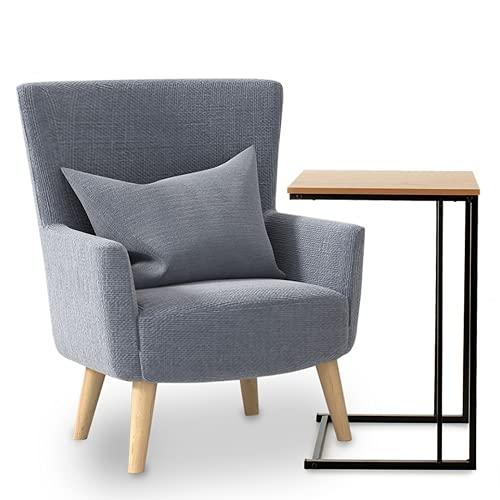 TIENDA EURASIA® Mesa Auxiliar Multifuncional - Mesas Auxiliares para Salon - Mesa Latera para Sofa - Estructura de Metal y Tapa de Madera - 40 x 30 x 60 cm (Black)