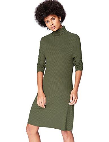 Amazon-Marke: find. Damen Kleid, Grün (Green), 36, Label: S