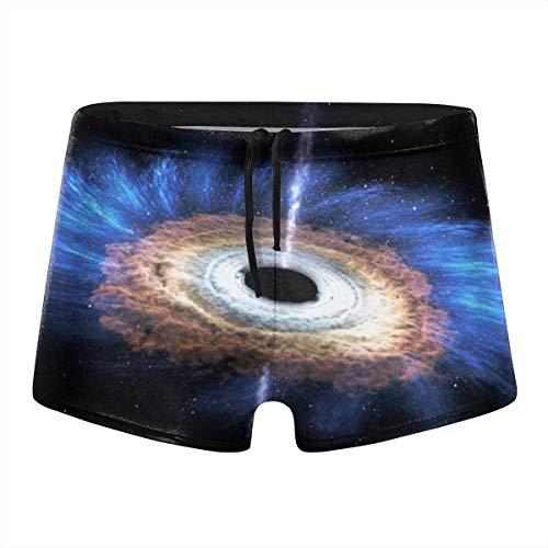 Millancty Trajes de baño para Hombres Trajes de baño Calzoncillo Boxer con Agujero Negro Trajes de baño de Secado rápido Pantalones Cortos XXL