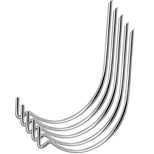 50Pcs Stainless Steel Picture Hanging Hooks Wall Hanging Hooks Drywall Hooks No Tools Need Holds Up to 100lbs for Hanging Pictures,Mirrors,Frames,Clock,Shelves,or Planters for Home and Office Pack