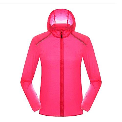 Blancho Super léger Vestes UV Protector Skin Manteau, Homme, Rose Rouge