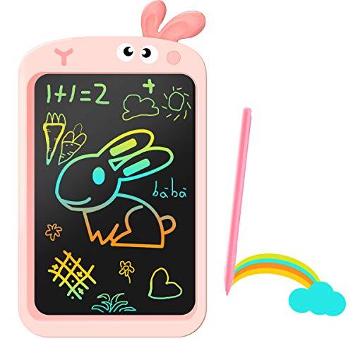 Tableta De Escritura LCD 10' Pulgadas para Niños De 3, 4, 5 6y Años, Regalos para Niñas, Tablero De Dibujo Colorido, Tableros De Escritura Portátiles, Regalos Educativos para Niños (Rabbit)
