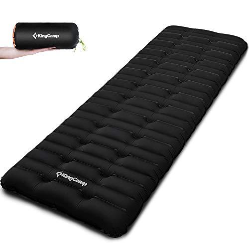 KingCamp 10cm dick Super Komfort Luftmatratze Isomatte Schlafmatte Aufblasbare Feuchtigkeitsfes für Camping Outdoor Reisen 190 x 63 x 10 cm