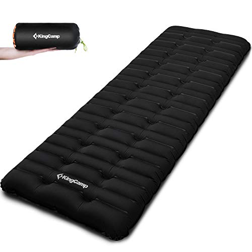 KingCamp Super Komfort Aufblasbare Isomatte Luftmatratze 10 cm Dick I-Beam-Kammersystem 1 Person