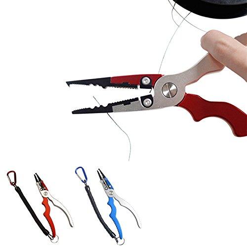 multifonction arqué Main Tige Pêche Pinces Ciseaux Ligne Cutter Crochet Remover Outil Attaquer