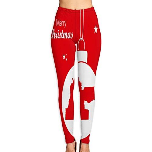 Florasun Merry Christmas with Map of Memphis - Pantalones de yoga transpirables para mujer