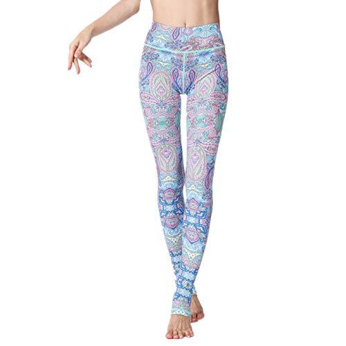 NIGHTMARE Pantalones de Yoga elásticos de Cintura Alta para Mujer, Control de Barriga, Entrenamiento para Correr, Mallas elásticas de 4 vías para Mujer, Pantalones de Cintura Alta XL
