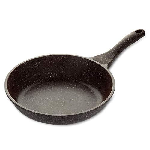LYMUP Sartén Wok Maifan Piedra de Fondo Plano Palo no sartén Hogar Multi-Función Wok Kitchen Steak Sartén Menos Aceite Wok Cocina de Gas for un Molde de Hierro No pegajoso (Color : 20x5cm)