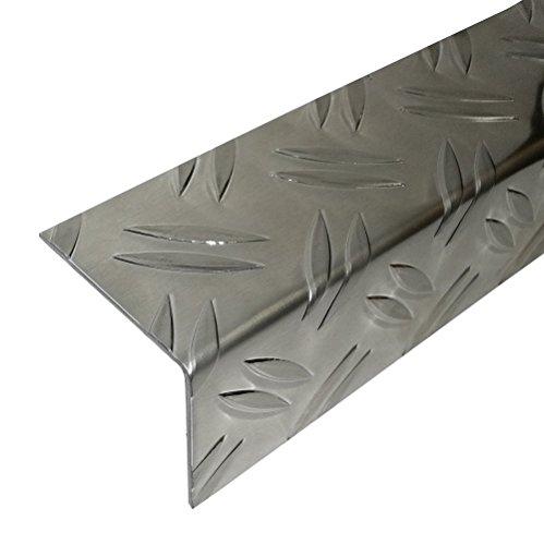 Aluminium Riffelblech Winkelprofil 2 Meter Alu Winkel Kantenschutz (30 x 30 mm)