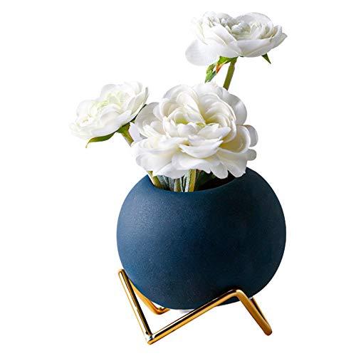 Plantas de simulación de plantas nórdicas verdes pequeñas en maceta, pequeños adornos para sala de estar, bonsái, centros de mesa (color blanco, tamaño: una talla)