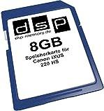 DSP Memory Tarjeta de Memoria para Canon IXUS 220HS 8 GB