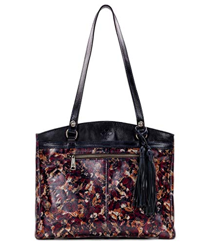 Patricia Nash Scarlet Bloom Collection Poppy Leather Tote Bag