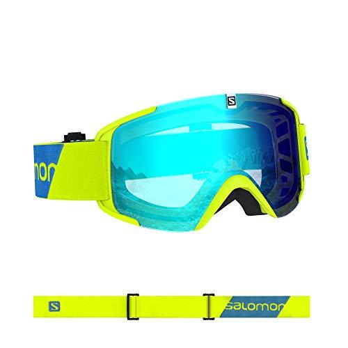 Salomon, Xview, Unisex-Skibrille, Gelb (Neon Yellow)/Universal Mid Blue, L40844500