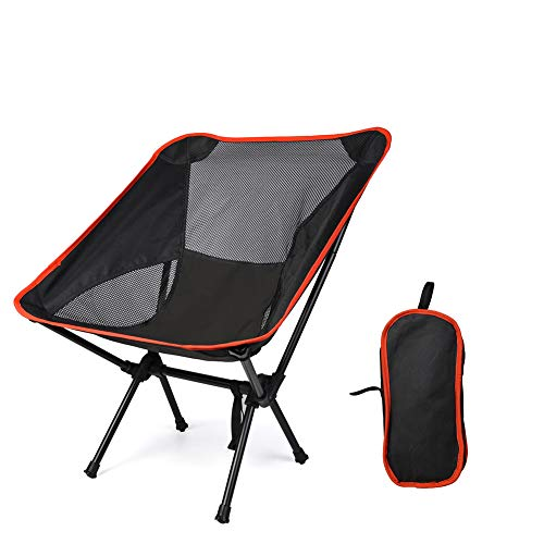 ZSBYREKA Portable Compact Folding Beach Chairs,Portable Compact for Outdoor Camp, Travel,Fishing, Beach, Picnic, Festival, Hiking.-Black