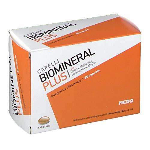 Biomineral Plus 60 Capsule Integratore Alimentare Con Cistina Metionina Ed Estratto Di Miglio