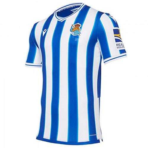 Macron Real Sociedad Primera Equipación Authentic 2020-2021, Camiseta, Royal-White, Talla L