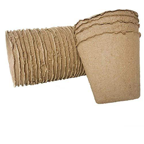 Cratone 100 Piezas Macetas de Semillas Brote Biodegradable Taza de Inicio de Semillas para arrancadores de Plantas caseras