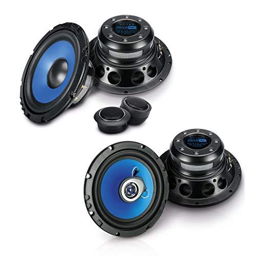 SINUSTEC Front/Heck 16,5cm/165mm Auto Lautsprecher/Boxen/Speaker Komplett-Set kompatibel für Ford