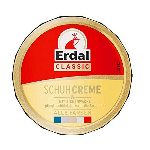Erdal Dosencreme alle Farben, Schuhcreme mit Bienenwachs - nährt und pflegt das Leder, farblos, 1er Pack (1 x 75 ml)