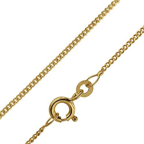 trendor Goldkette für Kinder 333 Gold (8 Karat) Panzerkette 38/36 cm diese Goldkette ist ein Schmuckstück für Kinder, schöne Geschenkidee, Echtgold, 72016
