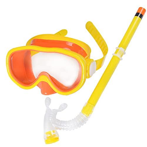 DOPN Set de esnórquel para niños, gafas de natación antiniebla, rueda dentada con tubos de respiración para niños y niñas, 7-15 años de edad