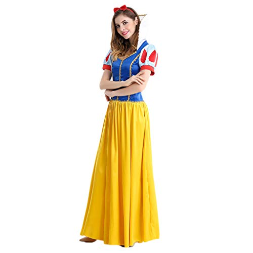 WSFS Hoofdband geel meisjes prinses dress up Halloween Party Regina fantasie voor volwassenen cosplay jurk lokaal Night Deluxe Queen