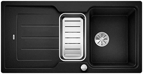 Blanco Classic Neo 6 S, Küchenspüle aus Silgranit PuraDur, reversibel, Anthrazit-schwarz / mit InFino-Ablaufsystem, inklusive SmartCut-Schneidbrett und Ablauffernbedienung; 524117