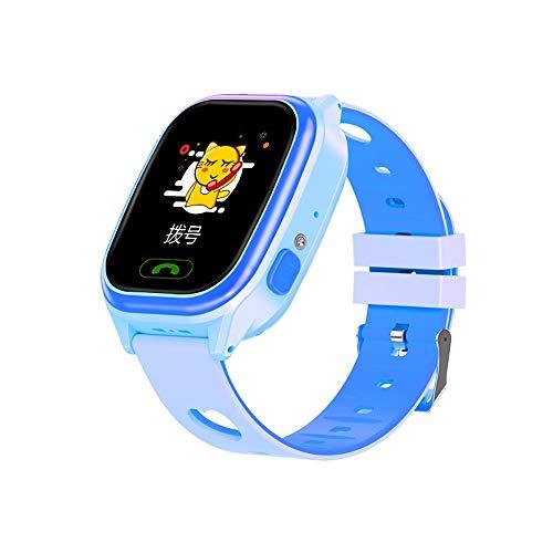 ZAKRLYB Kinder Smart Watch Smartwatches Baby Watch-Band Kinder SOS-Anruf GPS Standort Finder Locator Tracker Anti Lost Kind Geschenk Frauen Männer Geburtstag Geschenke für 4-12 Jahre Studenten (blau)