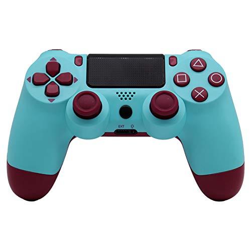 VAWA PS4 Controller inalámbrico Gaming-Bluetooth doble cargador rápido con pantalla LED, controlador Gamepad para PS4 / PS4 Slim / PS4 Pro-cian
