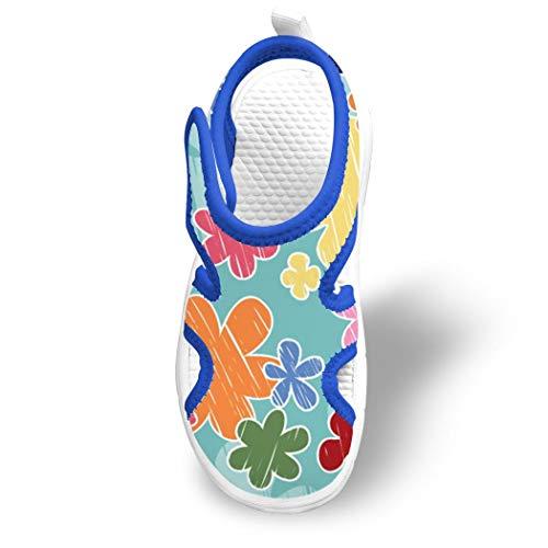 Nobranded Kids Flower Closed Toe Water Sandal Beach Slides with Adjustable Straps (Toddler/Little Kid/Big Kid)