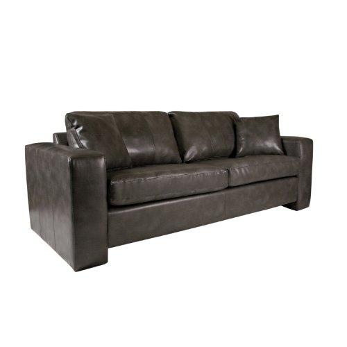 Hot Sale angelo:HOME Angelo Sofa in Renu Leather, Charcoal Gray