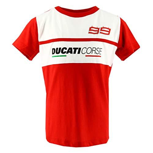 pritelli 1836018/2–4Camiseta niño Kid Ducati Corse Ducati Jorge Lorenzo 99(24), Talla 2/4